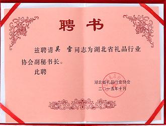 湖北礼品行业协会副秘书长
